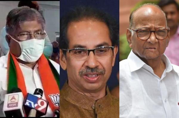 parambir-singh-letter-to-uddhav-thackeray-bjp-chandarkant-patil-protest-for-anil-deshmukh-resign