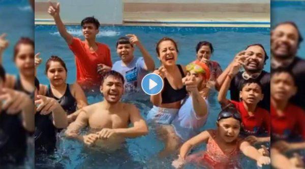 neha-kakkar-share-pre-holi-fun-in-pool-with-rohanpreet-singh-