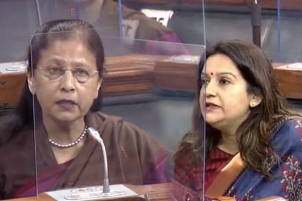 shivsena-mp-priyanka-chaturvedi-ncp-mp-Fouzia Khan raise-50-percent-women-reservation-issue-in-parliament-on-womens-day